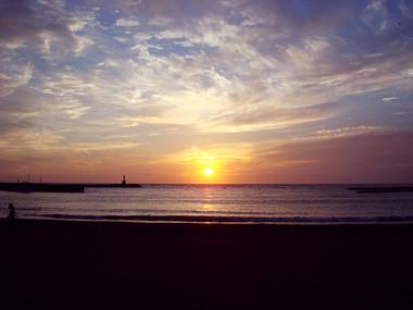 松崎海岸の夕日
